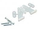 DU-BRO L-Style Nylon Control Horns, L/R  DUB105