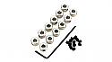 "DU-BRO 1/8"" Plated Brass Dura-Collars (12)  DUB597"