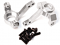 Axial SCX10 / AX10 Silver Alloy Steering Knuckles w/Screws by Racers Edge RCE1825S