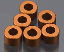 Axial Racing 1/10th Scale 4 x 6mm Orange Alloy Spacers (6)/Scorpion  AXIAXA1353
