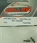 CoRally 1/10th Scale RDX/Assassin 4.3mm Inside Rear Link Joint Balls  COR79263