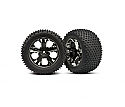 "Traxxas 1/10 2.8"" Mounted All Star Wheels and Tires/Rust/Stamp VXL  TRA3770A"