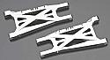 Traxxas SLASH 4X4 Silver Aluminum Suspension Arm Set