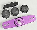 Ofna Purple Aluminum CNC Double Servo Arm JR/Fut/Hit/Air