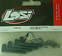 Team Losi Vertical Body Post Set & Clips/Mini-Rock Crawler Pro  LOSB1404