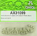 Axial Racing Aluminum Upper Link Capture Plates (4)/AX10 Crawler  AXIAX31099