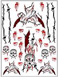 "Racers Edge 7 x 8"" Knifes & Skulls Decal Sheet  RCESIC020"