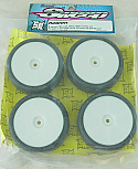 Sweep Racing 28R 1/10th Scale Slick Touring Car Rubber Tires w/White Wheels SWPR28NM