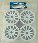 JConcepts Rulux-1/8th Truck Wheel Standard Offset -4pc WHITE