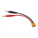 DuraTrax Charge Lead Banana Plugs to XT60 Battery Connector  DTXC2226