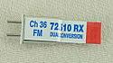 Airtronics Dual Conversion 72Mhz FM Receiver Crystal - Channel 36 72.510Mhz PDV9730036