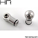 Hot Racing 1/10th Scale Silver Ball Type Aluminum Shock Ends/Revo  HRARVO154M08