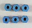 8-32 Aluminum Locknuts (Blue Anodized) ASC6943