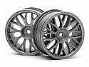 HPI Racing 1/10 Mesh Touring Car Wheel 26mm Gray (2)