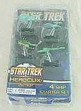 Star Trek Heroclix Tactics 4-Ship Starter Miniatures Game Set WZK70445