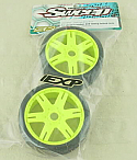 Sweep Racing Kyosho Inferno 1/8th GT2  50Deg EXP Treaded Tires (Yellow Wheels)