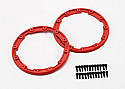 Traxxas Red Beadlock Style Sidewall Protector (2)