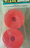Team Losi Rear Truck Wheel, Red (2)/XXX-T/XXX-NT LOSA7156
