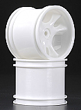 "CLAWZ White 2.2"" Truck Rear Wheels for Traxxas Stampede & Rustler"