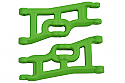 RPM 1/10th Scale Offset-Compensating Front A-Arms/2WD/Nitro Slash GREEN RPM70554