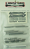 Lunsford 1/8th Scale Titanium Turnbuckle/Hinge Pin Set/AE RC8B/8E  LNS4522