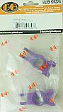 GH Racing Aluminum Rear Hub Carriers (Purple)/HPI Hellfire  GHH02348