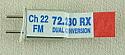 Airtronics Dual Conversion 72Mhz FM Receiver Crystal - Channel 22 72.230Mhz PDV9730022
