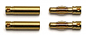 Reedy Gold Plated 4.0mm Connectors (2 Male/2 Female)