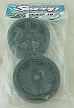 Sweep Racing Kyosho Inferno 1/8th GT2  50Deg Slick Tires on Black ROK Wheels SWPS40150RK