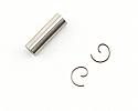 Traxxas Wrist Pin w/Wrist Pin Clips/TRX 2.5 Nitro Engine  TRA5231