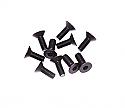 Axial Racing M3 x 8mm Hex Socket Flat Head Screws, Black (10pcs)  AXIAXA144