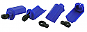 Traxxas 1/10th Scale Blue Shock Shaft Guards by RPM