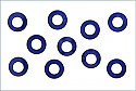 Kyosho M3x6 Blue Tapered Washer (10Pcs)