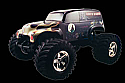 1/8th Scale Painted Grave Digger Monster Truck Body by Parma