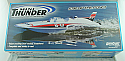 Aquacraft Mini Thunder Shovelnose EP Hydroplane RC Boat (Blue/White Hull) AQUB46BB