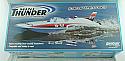 Aquacraft Mini Thunder Shovelnose EP Hydroplane RC Boat (Blue/White Hull) AQUB46BB
