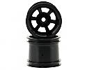 HPI Racing Scorch 6-Spoke Wheels, Black (2)/Firestorm  HPI3094