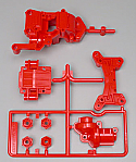 Tamiya Front Gear Case 4WD Rally Car, Red  TAM50541