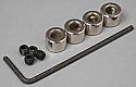 """Great Planes 5/32"""" Plated Wheel Collars (4)  GPMQ4306"""