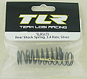 Team Losi Racing 22 1/10 Scale Buggy 3.4 Silver Rate Rear Shock Spring