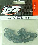 Team Losi 4mm Rod End Set/8B/8T LOSA6046