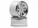 HPI Racing 1/10th Vintage 26mm Matte Chrome 8-Spoke Touring Car Wheels  HPI3808