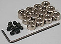 "Great Planes 1/8"" Plated Wheel Collars (12)  GPMQ4305"