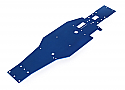 Traxxas Aluminum Lower Chassis, T6 Anodized Blue/Nitro Slash  TRA4422