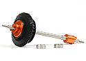 Exotek Racing Rear Titanium Axle and Ball Differential Set/Micro RS4  EXO1381
