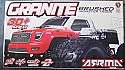 Arrma R/C Granite 1/10th Scale RTR Waterproof RTR Monster Truck ARAARAD37**