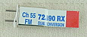Airtronics Dual Conversion 72Mhz FM Receiver Crystal - Channel 55 72.890Mhz PDV9730055