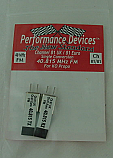 40Mhz Ko Propo Single Conversion FM TX/RX Crystal Set UK CH81 / Euro CH81 40.815Mhz - Performance Devices PDV9610081