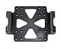 ST Racing Concepts Aluminum Center Skid Plate (Black)/Tamiya CR01  STT95887BK