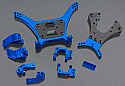 Team Associated SC10 Short Course Truck PRO Blue Alloy conversion Kit INTT7864BLUE